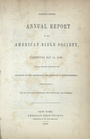 Thirty-Third Annual Report of the American Bible Society