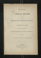 Thirty-Fourth Annual Report of the American Bible Society