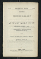 Fifth Annual Report of the American Bible Union