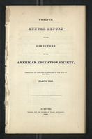 Twelfth Annual Report of the Directors of the American Education Society