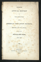 Sixteenth Annual Report of the Directors of the American Education Society