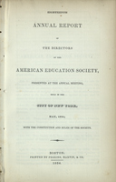Eighteenth Annual Report of the Directors of the American Education Society