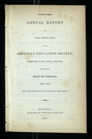 Twenty-First Annual Report of the Directors of the American Education Society