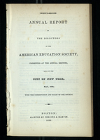 Twenty-Second Annual Report of the Directors of the American Education Society