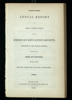 Twenty-Third Annual Report of the Directors of the American Education Society
