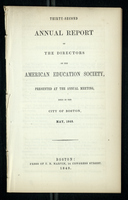 Thirty-Second Annual Report of the Directors of the American Education Society