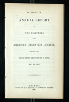Thirty-Fifth Annual Report of the Directors of the American Education Society
