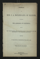 Speech of Hon. J. A. McCernand, of Illinois, in Favor of the Admission of California