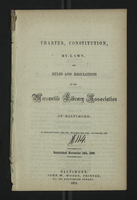 Charter, Constitution, By-Laws, and Rules and Regulations of the Mercantile Library Association of Baltimore