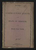 Report of the Auditor of Public Accounts, of the State of Missouri, to the Nineteenth General Assembly