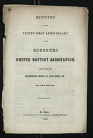 Minutes of the Thirty-First Anniversary of the Missouri United Baptist Association