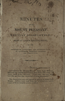Minutes of the Mount Pleasant Baptist Association, 1822