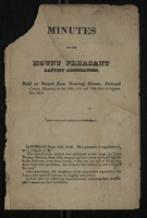Minutes of Mount Pleasant Baptist Association, 1825