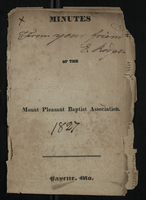 Minutes of Mount Pleasant Baptist Association, 1827