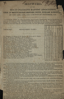 Minutes of Mount Pleasant Baptist Association, 1829
