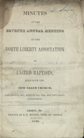 Minutes of the Seventh Annual Meeting of the North Liberty Association of United Baptists