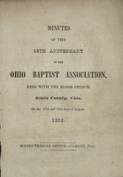 Minutes of the 18th Aniversary of the Ohio Baptist Association