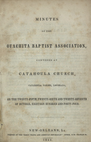 Minutes of the Ouachita Baptist Association