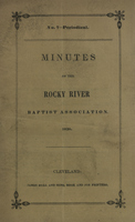 Minutes of the Rocky River Baptist Association