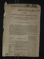 Minutes of the Scioto Baptist Association, 1814