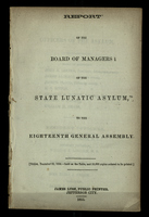 Report of the Board of Managers of the State Lunatic Asylum