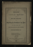 The Thirteenth Annual Report of the New York Association for Improving the Condition of the Poor
