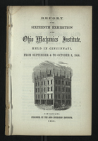 Report of the Sixteenth Exhibition of the Ohio Mechanics' Institute