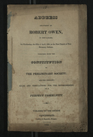 Address Delivered by Robert Owen, of New-Lanark in the New Church of New-Harmony, Indiana