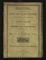 Oration Delivered Before the Sons of Temperance, Saint Louis Division