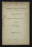 The Duties of American Citizens