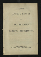 Second Annual Report of the Philadelphia Sabbath Association