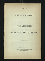 Third Annual Report of the Philadelphia Sabbath Association