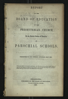 Report of the Board of Education of the Presbyterian Church
