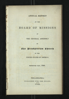 Annual Report of the Board of Missions of General Assembly of the Presbyterian Church