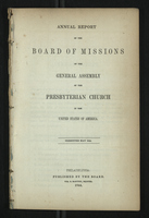 Annual Report of the Board of Missions of General Assembly of the Presbyterian Church, 1844