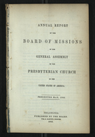Annual Report of the Board of Missions of General Assembly of the Presbyterian Church, 1845