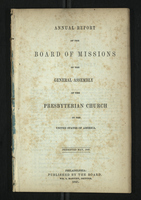 Annual Report of the Board of Missions of General Assembly of the Presbyterian Church, 1847