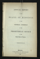 Annual Report of the Board of Missions of General Assembly of the Presbyterian Church, 1848