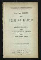 Annual Report of the Board of Missions of General Assembly of the Presbyterian Church, 1852