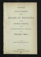Fifty-First Annual Report of the Board of Missions of the General Assembly of the Presbyterian Church