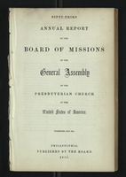 Fifty-Third Annual Report of the General Assembly of the Presbyterian Church