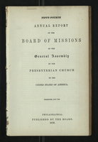 Fifty-Fourth Annual Report of the Board of Missions of the General Assembly of the Presbyterian Church