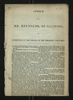 Speech of Mr. Reynolds, of Illinois, in Committee of the Whole, on the Treasury Note Bill