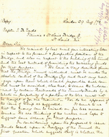 J.S. Morgan & Co. Letter of James B. Eads