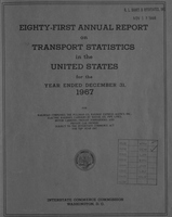 Annual report on transport statistics in the United States for the year ended 1967