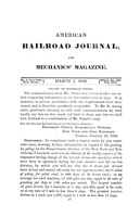 American Railroad Journal March 1, 1842