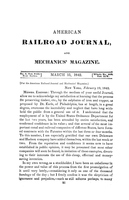 American Railroad Journal March 15, 1842