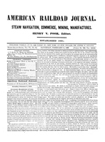 American Railroad Journal February 9, 1850