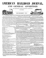 American Railroad Journal January 30, 1845
