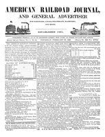 American Railroad Journal February 27, 1845